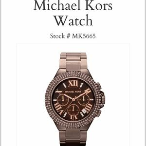 Micheal Kors Camille Espresso Chronograph Watch
